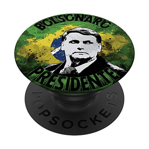 Jair Bolsonaro Presidente Brasil Flag Bandeira Brazil 2019 PopSockets PopGrip: Swappable Grip for Phones & Tablets