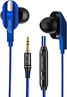 pTron Boom Lite in Ear Wired Earphones with Stereo Sound, Dual Drivers, Ergonomic & Secure-fit, 1.2M Tangle-Free Braided C...
