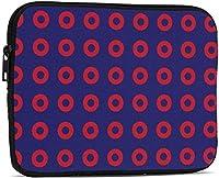 フィッシュサークルタブレットスリーブケースIpad保護バッグ用耐衝撃ケースバッグ-ブラック-9.7インチ