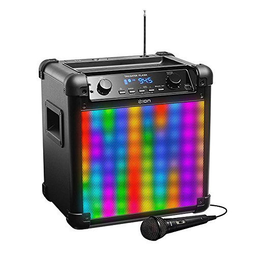 ION Audio Tailgater Flash 2-way Bluetooth Rechargeable Speaker with Sound Reactive LED