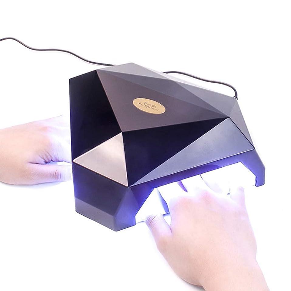 偶然の野望なんでもネイル光線療法機 ネイルドライヤー - 60WネイルスマートセンサーLED日光療法マシン手と足はディスプレイネイルマニキュアツールで焼くことができます (色 : 黒)