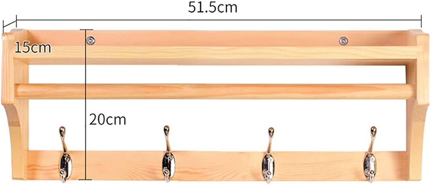 Solid Wood Hanger Key Hook Modern Minimalist Hanging Clothes Hook Row Hook Coat Rack Wall Hanging Wall Rack (color   C, Size   4 Hooks)