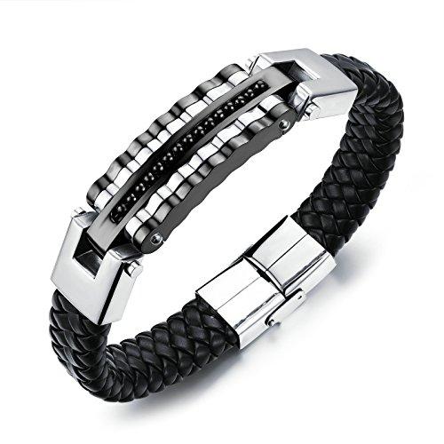 AnazoZ sieraden roestvrij staal Link armbanden voor heren Biker Bicycle Gear Links