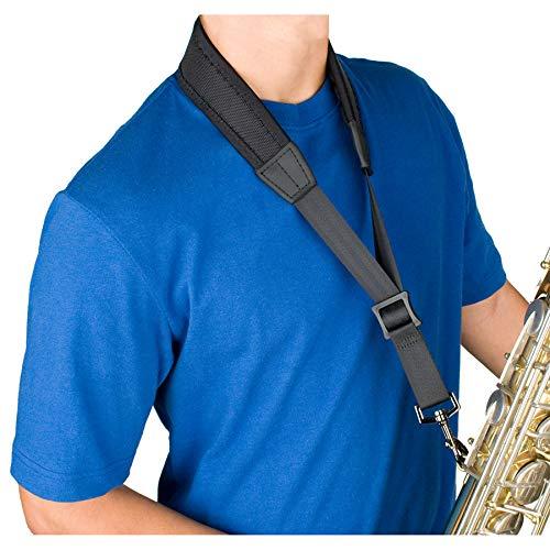 Protec Ballistic Neopren, Saxophon Nackengurt mit Beschichtete Metall-Haken 24-Inch (Tall) schwarz