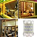 RGBZONE 200pcs DC 12V 5050 SMD 3 LED Module Waterproof Module LED Light Decorative Lighting Lamp for Indoor and Outdoor Lighting Decoration