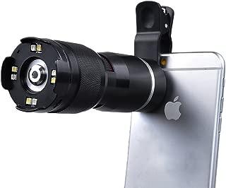 Apexel 400X 光学变焦显微镜放大镜镜头带通用夹,适用于 iPhone 6/6s plus 6/6 plus三星 Galaxy HTC 和大多数智能手机-黑色