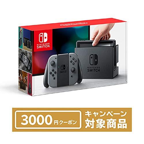 Nintendo Switch 本体 (ニンテンドースイッチ) 【Joy-Con (L) / (R) グレー】+ ニンテンドーeショップでつ...