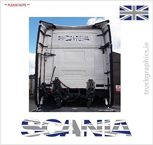 Scania volgende generatie embleem Union Jack zwart-wit vlag Sticker Sticker Sticker -39a