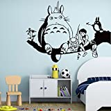 My Neighbor Totoro On The Tree Wall Stickers Children's Room Bedroom Living Room Decoration Stickers Removable Murals Creative Wallpaper (P20002)