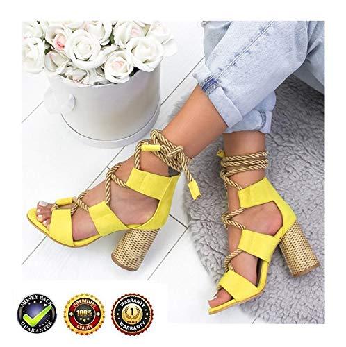 Sandals V-hak espadrilles High Wedges Peep Toe Plateau dames zomer elegant enkelriem gesp wigsandalen plat leer comfortabele casual schoenen 8 cm hoge hak geel