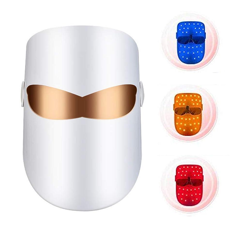 喜ぶ厳達成するLEDライトセラピーフェイスアクネホワイトニング/アンチエイジングのためにレッドブルーオレンジライトフォトントリートメント美容機器をマスク