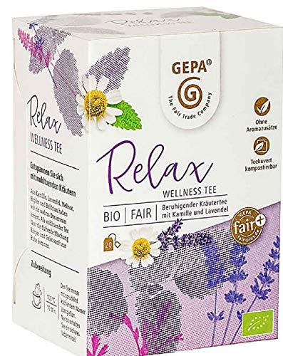 Gepa Bio Relax Tee - 100 Teebeutel - 5 Pack ( 20 x 1,5g pro Pack)
