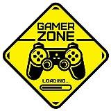 Gamer Zone Loading etiqueta de la puerta Habitación de los niños Etiqueta de la pared Mural Calcomanía de vinilo