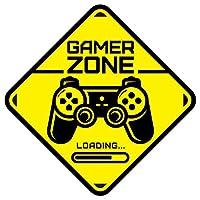 Gamer Zone Loading etiqueta de la puerta Habitación de los niños Etiqueta de ...