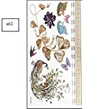 JIEIIFAFH Un Conjunto de 6 Piezas de Tatuaje Temporal Color Planta Animal patrón Pegatina Fiesta al Aire Libre Estampado en Caliente Pegatinas (Color : 6-Piece Set)