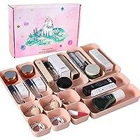 INSHERE Set of 12 Desk Drawer Makeup Organizer Separators