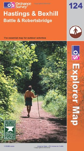 OS Explorer map 124 : Hastings & Bexhill