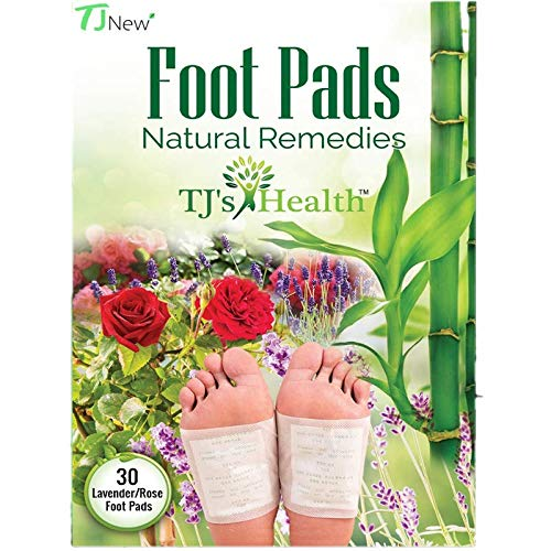 TJ's Health Organic Sleep Foot pads   30 rose & lavender feet patches to aid natural sleep   Clarity within