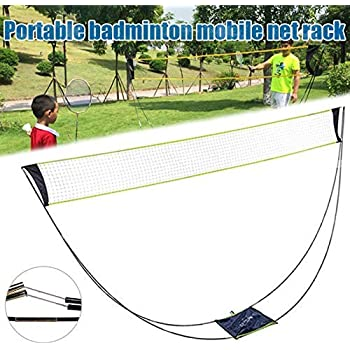 Portable Professional Badminton Net Rack Foldable Holder Outdoor UK