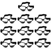 【ノーブランド品】 ユニーク スポーツ バスケットボール 練習用 フィット感 ドリブル 眼鏡 ゴーグル ソフト 全2色 - 黒, 10個