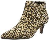 Clarks Linvale Sea, Zapatos con Tira de Tobillo Mujer, Estampado de Leopardo Multicolor, 41.5 EU
