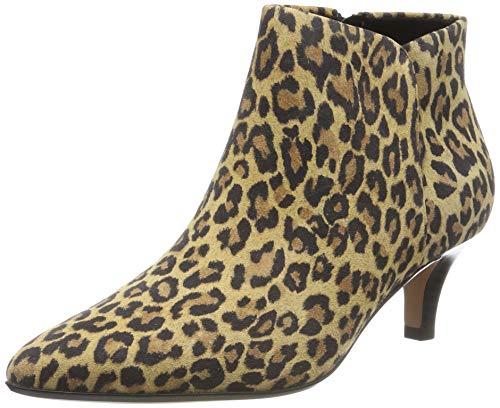 Clarks Linvale Sea, Zapatos con Tira de Tobillo para Mujer, Estampado de Leopardo Multicolor, 37.5 EU