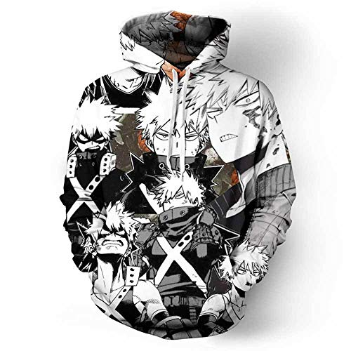 Qqswxz Anime My Hero Academy Himeko Toga Jk Disfraz Cosplay Print 3D Boku No Hero Academy Sudadera con Capucha Divertida Hombres Mujeres Casual Sweatshirt-4_S