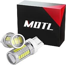 MOTL 7440 Led Bulb, 7443 Led Bulbs, 7440 LED for Reverse Light, Back Up Light, Brake Light, Ultra Bright 5630 33-SMD W21W T20 LED Bulb- Pack of 2, White
