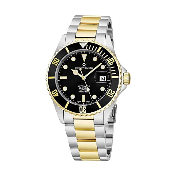 Fashion Shopping Revue Thommen Mens Diver Watch Automatic Sapphire Crystal – Analog Black Face
