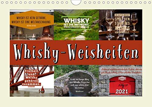 Whisky-Weisheiten (Wandkalender 2021 DIN A4 quer)