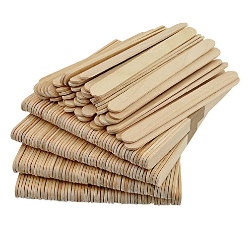 Popsicle Sticks - Pistha 300 Pcs Wooden Craft Sticks 4.5 Inches Freezer Pop Sticks for Ice Cream Making DIY Crafts