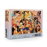 Tiyila Anime One Piece Jigsaw Puzzle (1000 Piezas), Puzzle Toy Cartoon Adultos Puzzle Niños Sorpresa Regalos Juguetes educativos(H01)