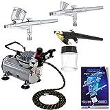 3 Airbrush Professional Master Airbrush Multi-Purpose Airbrushing System Kit -...