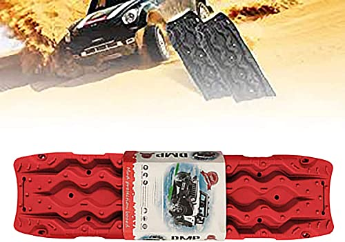 AEGIS light Tire Escaper Traction Mats,Recovery Boards Traction Tracks Mat,Easy to Install, Get Unstuck Fast A Snow Traction Mat or Snow Chain Alternative 1 Pack,Red (Color : Red)