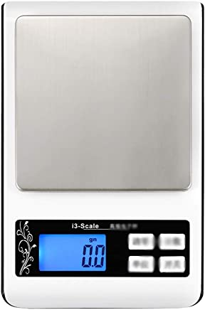 Kitchen Scales - Stainless Steel Scales, 6 Units Conversion, LED Night Vision Screen, Home Kitchen Miniature Jewelry Multi-Function Precision Micro Electronic Platform Scale - 4 Range Options