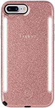 LuMee Duo Phone Case, Rose Glitter | Front & Back LED Lighting, Variable Dimmer | Shock Absorption, Bumper Case, Selfie Phone Case | iPhone 8+ / iPhone 7+ / iPhone 6s+ / iPhone 6+