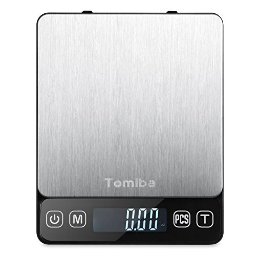 Digital Touch Pocket Scale 0.01oz - Tomiba 3000g Small Portable Electronic Precision Scale (0.1g) Resolution 2 AAA Batteries Included