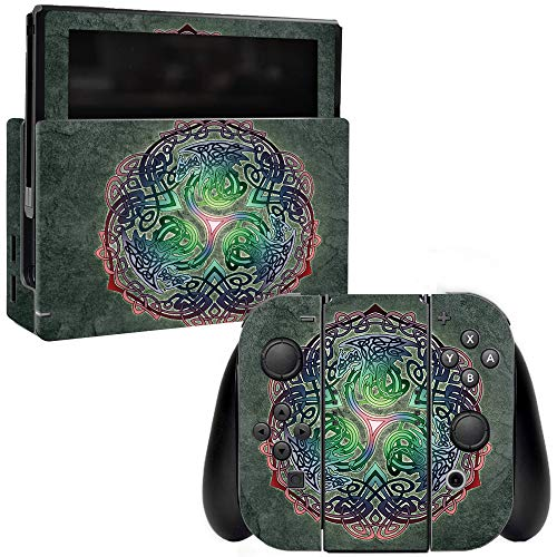 MightySkins Skin Compatible with Nintendo Switch - Celtic Dragon | Protective, Durable, and Unique Vinyl Decal wrap Cover | Easy to Apply, Remove, and Change Styles | Made in The USA