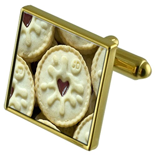 Select Gifts Biscuit Coeur Jammie Gold-tone de manchette Crystal-cravate Cadeau