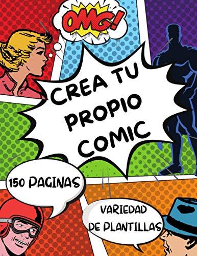 Crea tu propio comic 150 paginas variedad de plantillas: Dibuje sus propios...