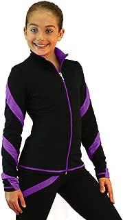 ChloeNoel Spiral Figure Skating Jacket J636