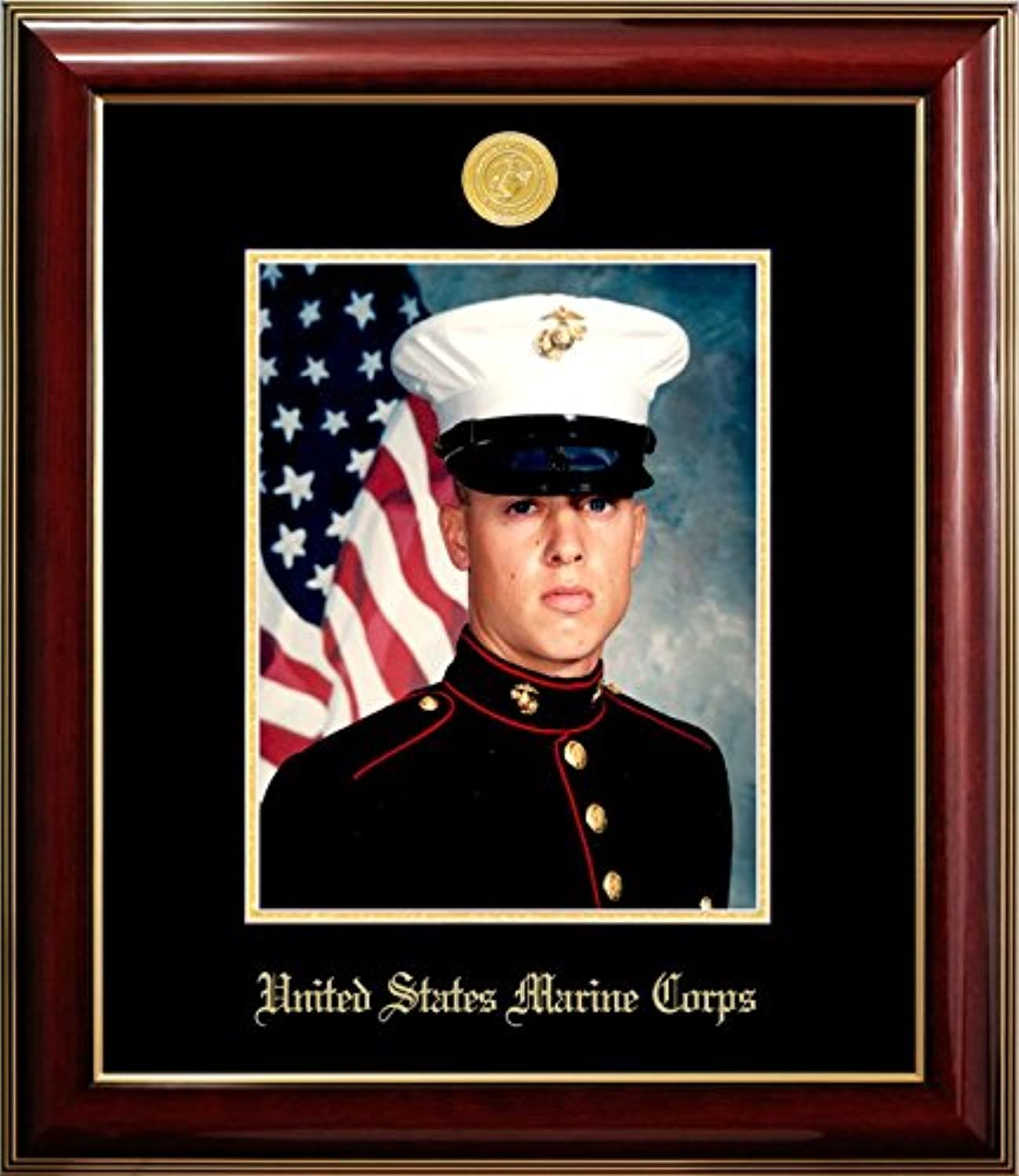 Campus Images MAPCL001 Marine Portrait Classic Frame with gold Medallion, 8  x 10