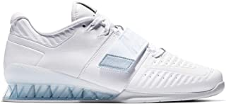 Nike Men's Romaleos 3.5 Weightlifting Shoes (9.5, White/Silver)