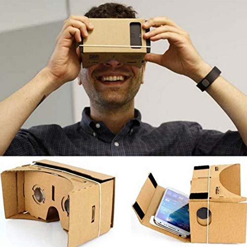 Find Discount LILIERS DIY for Google Cardboard 3D VR Box Reality Glasses VR Mobile Phone 3D for Scre...