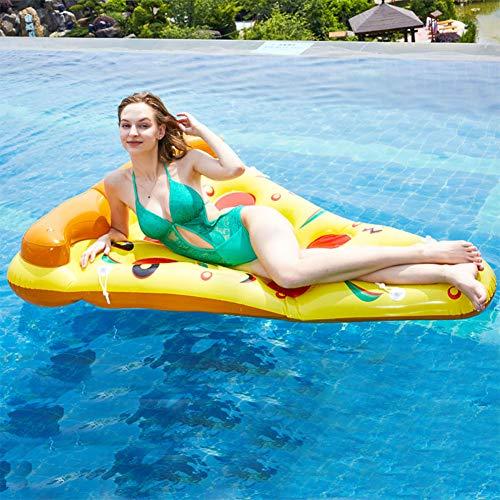 WZP-Fila Flotante Inflable En Forma De Pizza-Hamacas Inflables-Cama Flotante Tumbonas De Agua(con Bomba De Aire) Juguetes De Piscina De Agua De PVC,para Adultos Y Niños