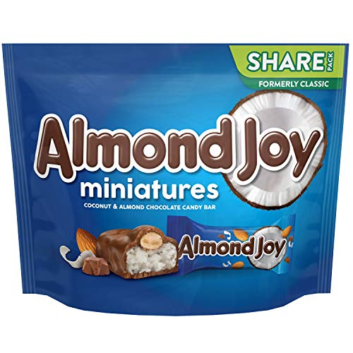 ALMOND JOY Chocolate Coconut Candy, Miniatures, 10.2 oz Bag