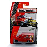Matchbox Ford E-350 Ambulance TRI-County Department MBX Rescue 2013 On A Mission 1:64 Scale Basic Die-Cast Vehicle (#75 of 120)
