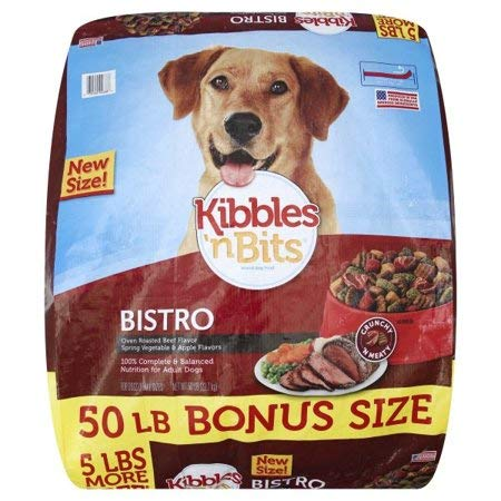 Price comparison product image Kibbles 'n Bits Bistro Oven Roasted Beef Flavor Dry Dog Food,  50-Pound (7910092688)