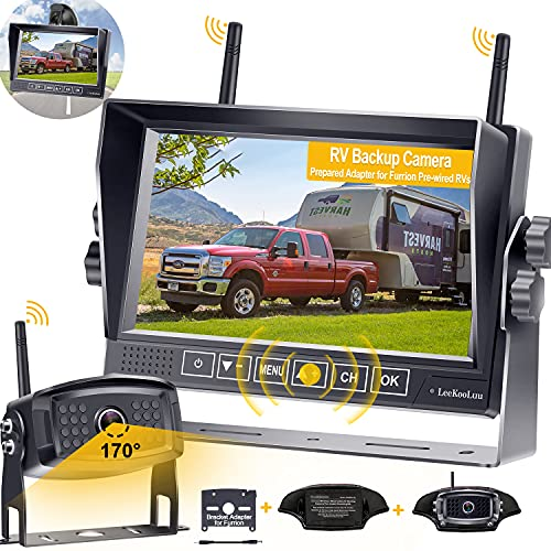 Wireless Backup Camera for RV HD 1080P with 7 Inch DVR Monitor,RV Rear...