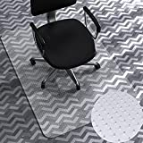 Office Chair Mat for Carpet, WASJOYE 35'x47' Transparent PVC Carpet Protector Cover Rug Mat with Non-Slip Studded Lip, Heavy Duty for Home Office Computer Desk Rolling Chair, Easy Expanded